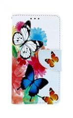 TopQ Pouzdro Xiaomi Redmi 6 knížkové barevné s motýlky 32178