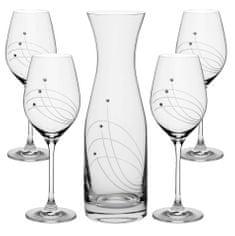 Celebration SET fľaša + kalichy na víno 30538 Swarovski® (1+4KS)