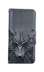 TopQ Pouzdro Samsung A20e knížkové Vlk 42940