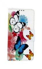 TopQ Pouzdro Honor 20 Lite knížkové Barevné s motýlky 43586