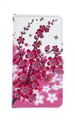 TopQ Pouzdro Xiaomi Redmi 6A knížkové Kytičky textil 39977