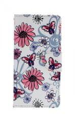 TopQ Pouzdro Samsung A70 knížkové Flowers 44282