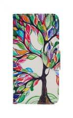 TopQ Pouzdro Samsung J6+ knížkové barevný strom 34626