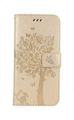 TopQ Pouzdro Honor 10 Lite knížkové zlatý strom 38428