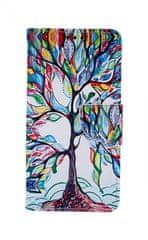 TopQ Pouzdro Samsung A10 knížkové Barevný strom 43330