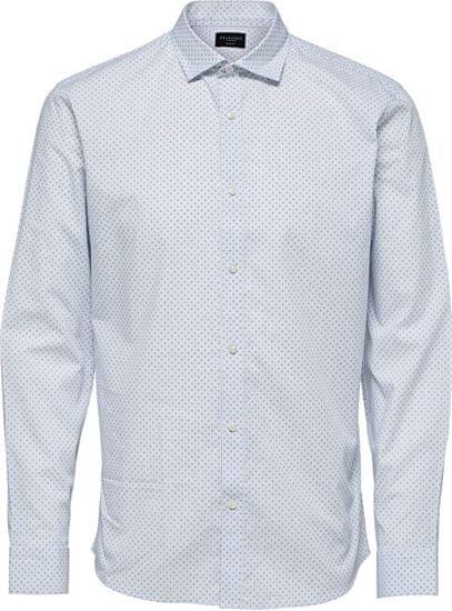 Selected Homme Pánská košile SLHSLIMCODEN SHIRT LS MIX B White Stripes (Velikost XXL)