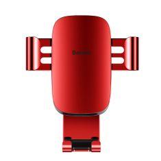 BASEUS Metal Age Gravity autós telefontartó ventilációs rácsba, piros