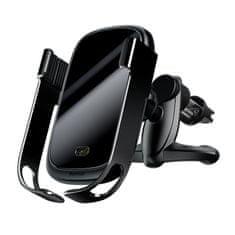 BASEUS Rock Smart držák na mobil do auta, Qi bezdrátová nabíječka, infra senzor, černý