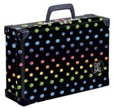 Karton P+P Laminált bőrönd négyzet alakú Dots colors