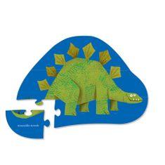 Crocodile Creek Puzzle mini Stegosaurus 12ks