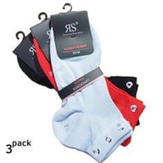 RS Dámské letní bavlněné kotníkové ponožky s kovovou aplikací 3Pack