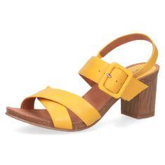 Caprice Dámské sandály 28317 YELLOW NAPPA