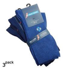 Zdravé Ponožky Pánské jednobarevné oblekové ponožky 3Pack