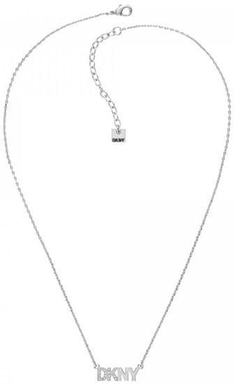 DKNY Štýlový náhrdelník s logom Pendant New York 5519994