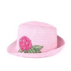 Stylomat Klobouk s růží růžový