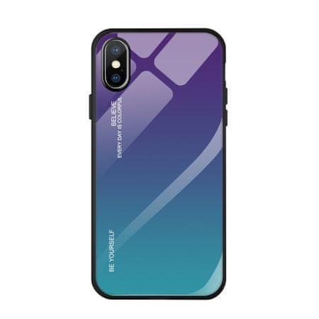 MG Gradient Glass plastika ovitek za iPhone XS Max, modra-vijolična