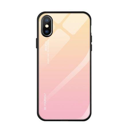 MG Gradient Glass plastika ovitek za iPhone XS/X, roza