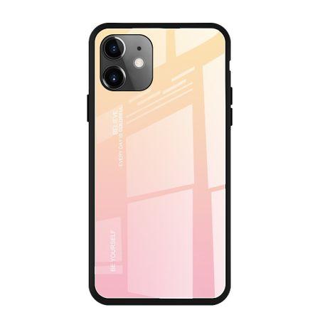 MG Gradient Glass plastika ovitek za iPhone 11, roza