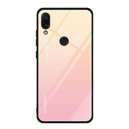 MG Gradient Glass plastika ovitek za Xiaomi Redmi Note 7, roza