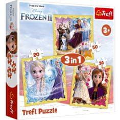 Trefl sestavljanka 3 v 1, Frozen II
