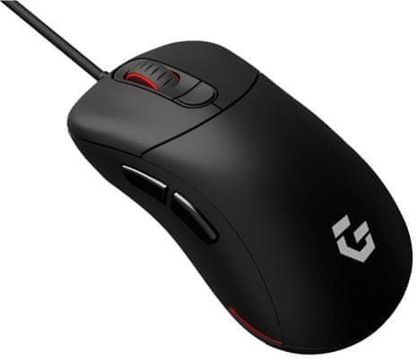 CZC Headhunter GM800, pravoruká herní myš pogumované boční strany