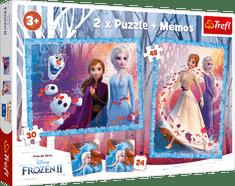 Trefl sestavljanka 2 v 1 + spomin, Frozen