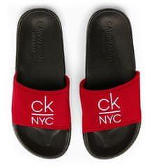 Calvin Klein Pantofle KW0KW01054-XBG černočervená - Calvin Klein