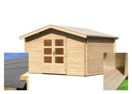 KARIBU dřevěný domek KARIBU BAYREUTH 5 (14525) SET