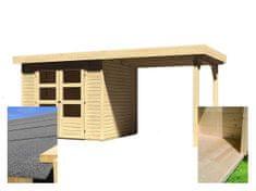 KARIBU drevený domček KARIBU ASKOLA 3 + prístavok 240 cm (14441) SET