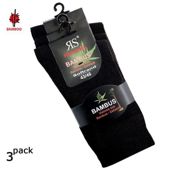 RS Dámské i pánské zdravotní bambusové antibakteriální ponožky bez gumiček 43033 3-pack - 35-38