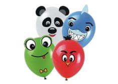 Latexové balóniky so šablónou a nálepkami - mix farieb - pastelové - 6 ks