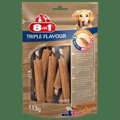 8in1 Triple Flavour Ribs priboljšek za pse, 6 kosov