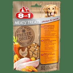 8in1 Meaty Treats priboljški za pse, piščanec, korenje, 50 g