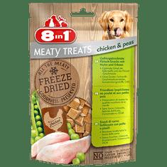 8in1 Meaty Treats priboljški za pse, piščanec, grah, 50 g