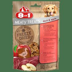 8in1 Meaty Treats priboljški za pse, raca, jabolko, 50 g