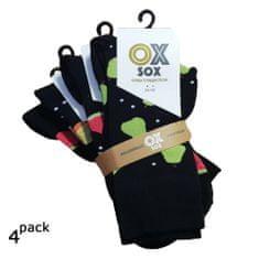 OXSOX Dámské i pánské veselé CRAZY SOCKS ponožky ovoce 4Pack