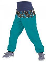 Unuo chlapčenské softshellové nohavice SLIM s fleecom Psíky
