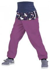 Unuo Dievčenské batoľacie softshellové nohavice s fleecom Jednorožci
