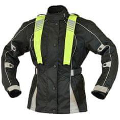 Cappa Racing Bunda moto dámska CORDURA textilná čaná / sivá