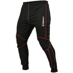Cappa Racing Kalhoty TERMO UNISEX černé/červený proužek