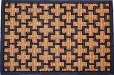 DURAmat Čisticí vstupní rohož guma & mořská tráva HORN černo-hnědá 40x60cm venkovní