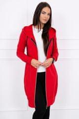 Kesi Mikinové šaty s kapucí, červená