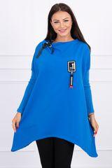 Kesi Asymetrická tunika, oversized, modrá