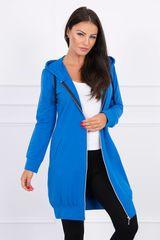 Kesi Mikinové šaty s kapucí, modrá