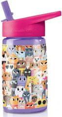 Crocodile Creek Zdravá fľaša Mačka so slamkou