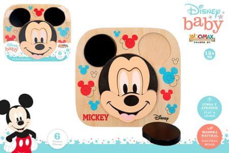 Disney vstavljanka Mickey, lesena, 22 x 20 cm