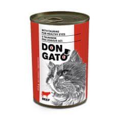 Dibaq DON GATO macskakonzerv, marha, 10x415 g