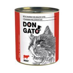 Dibaq DON GATO macskakonzerv, marha, 6x850 g