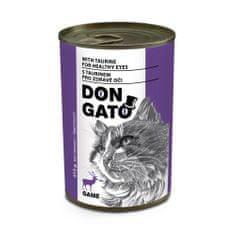 Dibaq DON GATO konzerv macskáknak vadhús 10x415 g