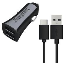 Energizer Nabíječka do auta 2x USB 3,4A s USB-C kabelem (DCA2CUC23)